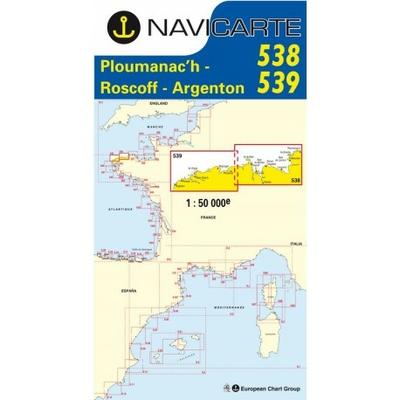Carte Navicarte 538+539 Ploumanac'h-Iles de Batz-Porsal
