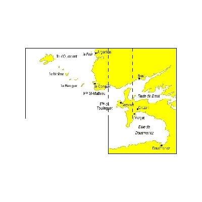 Carte marine Navicarte de Ouessant  chenal du Four à Douarnenez