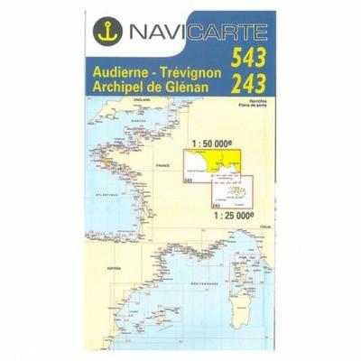 Carte Navicarte 543+243 Audierne, Concarneau, les glénans