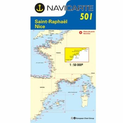 Carte Navicarte 501- St Raphael- Nice-Iles de Lérins