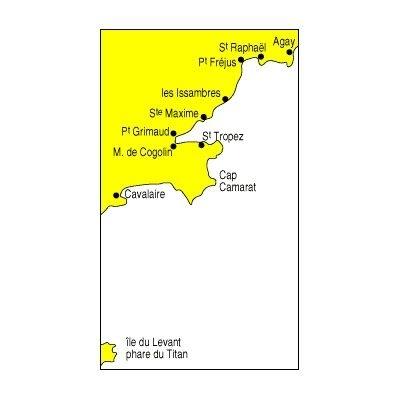 Carte marine Navicarte de st Raphael à l'ile du Levant