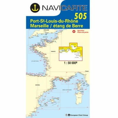 Carte marine Navicarte 505- Port St Louis, Marseille, Etang de Berre