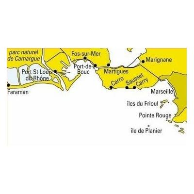 Carte marine 505 Rade de marseille et embouchure du Rhone