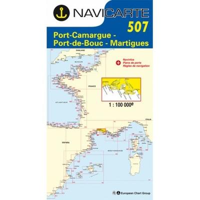 Carte marine Navicarte 507 - Port Camargue, Port de Bouc