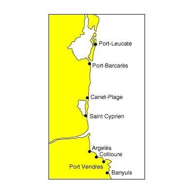 Carte marine 511- de port leucate à banyuls