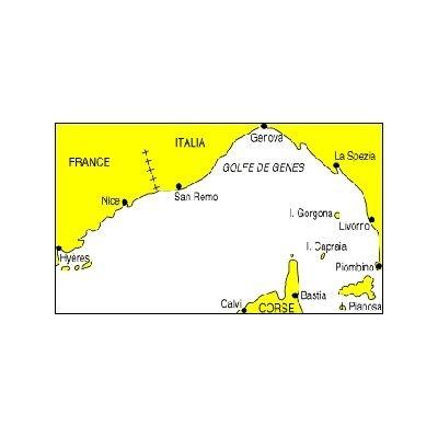 fCarte marine Navicarte R2 -Golfe de Genes - traversee continent cose