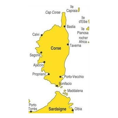 Carte navicarte R3 routier corse et nord sardaigne