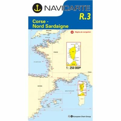 Carte marine Navicarte R3 - Corse- Nord Sardaigne