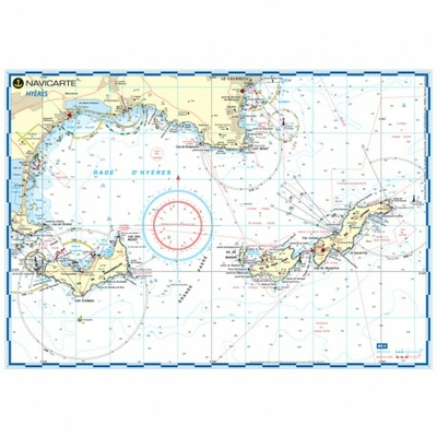 Carte marine plastifiée- Hyères
