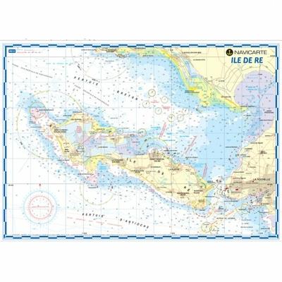 Carte marine plastifiée-Mininav Ile de Ré