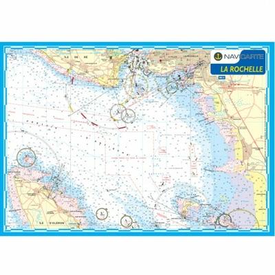 Carte marine plastifiée - La Rochelle