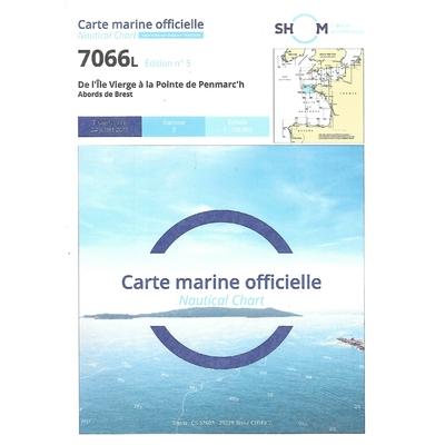 Carte Shom 7066L- De l'ile Vierge à la pointe de Penmarc'h-Abords de Brest