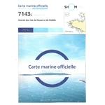 Carte marine SHOM 7143L-Abords des iles de Houat et Hoëdic