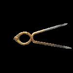 Compas laiton à pointe sèche inox forme lyre