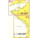 Navicarte - R11 + R12 - La Manche + Golfe de Gascogne zoom