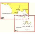 Carte marine navicarte Audierne à concaneau - archipel des iles de Glenan