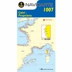 Carte marine corse - navicarte -1007-pliee