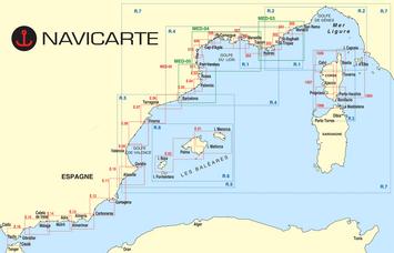 cartes marines NAVICARTE-Mediterannee