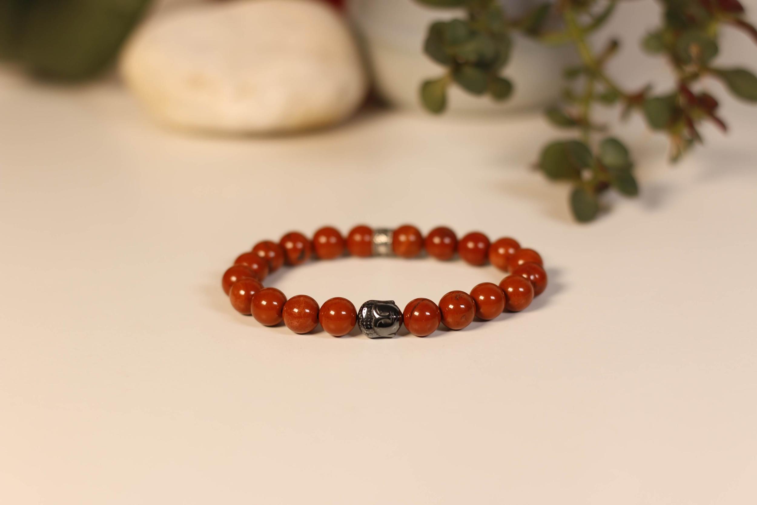 Bracelet Bouddha Jaspe Rouge