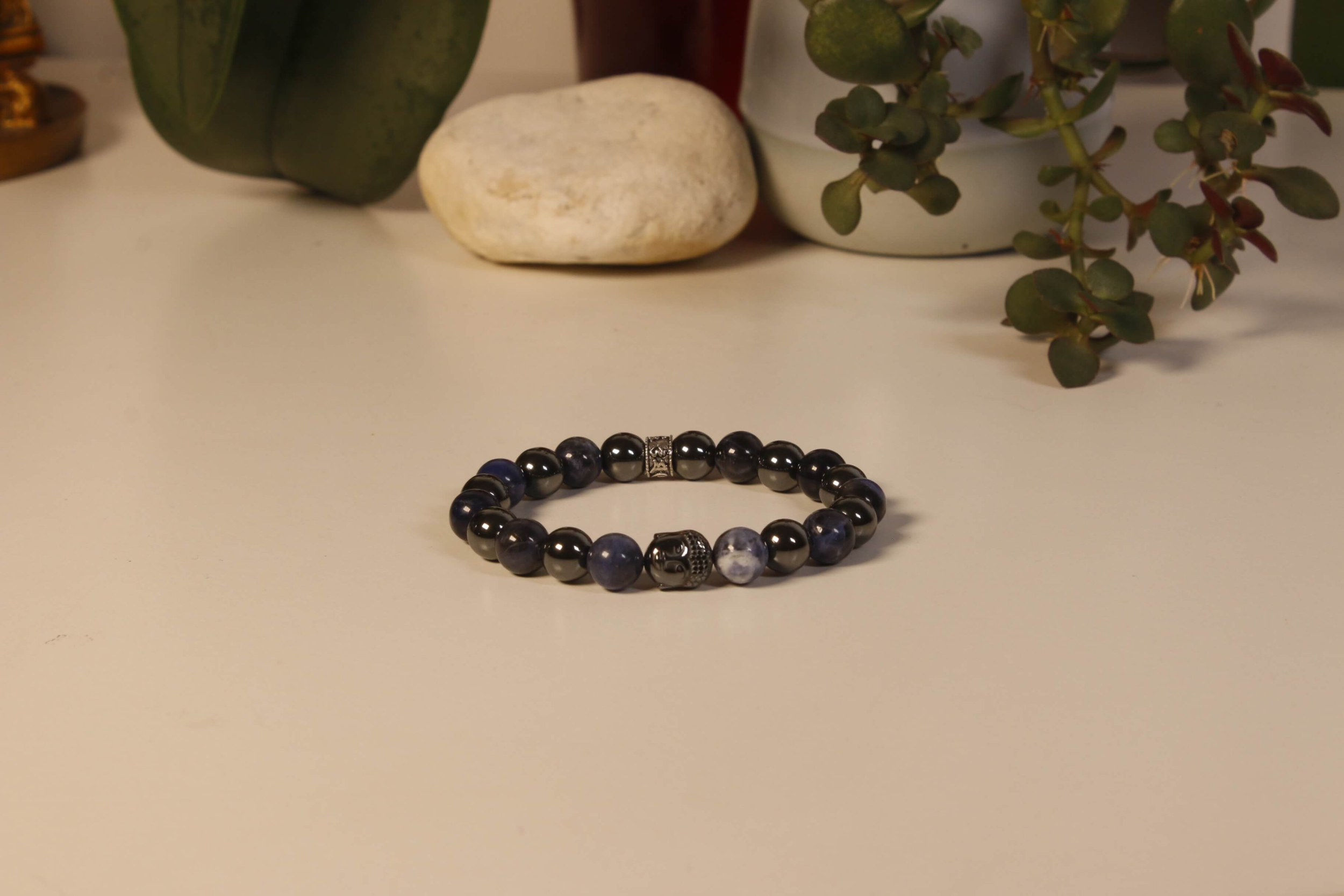 Bracelet Bouddha Sodalite 1 Hématite 1