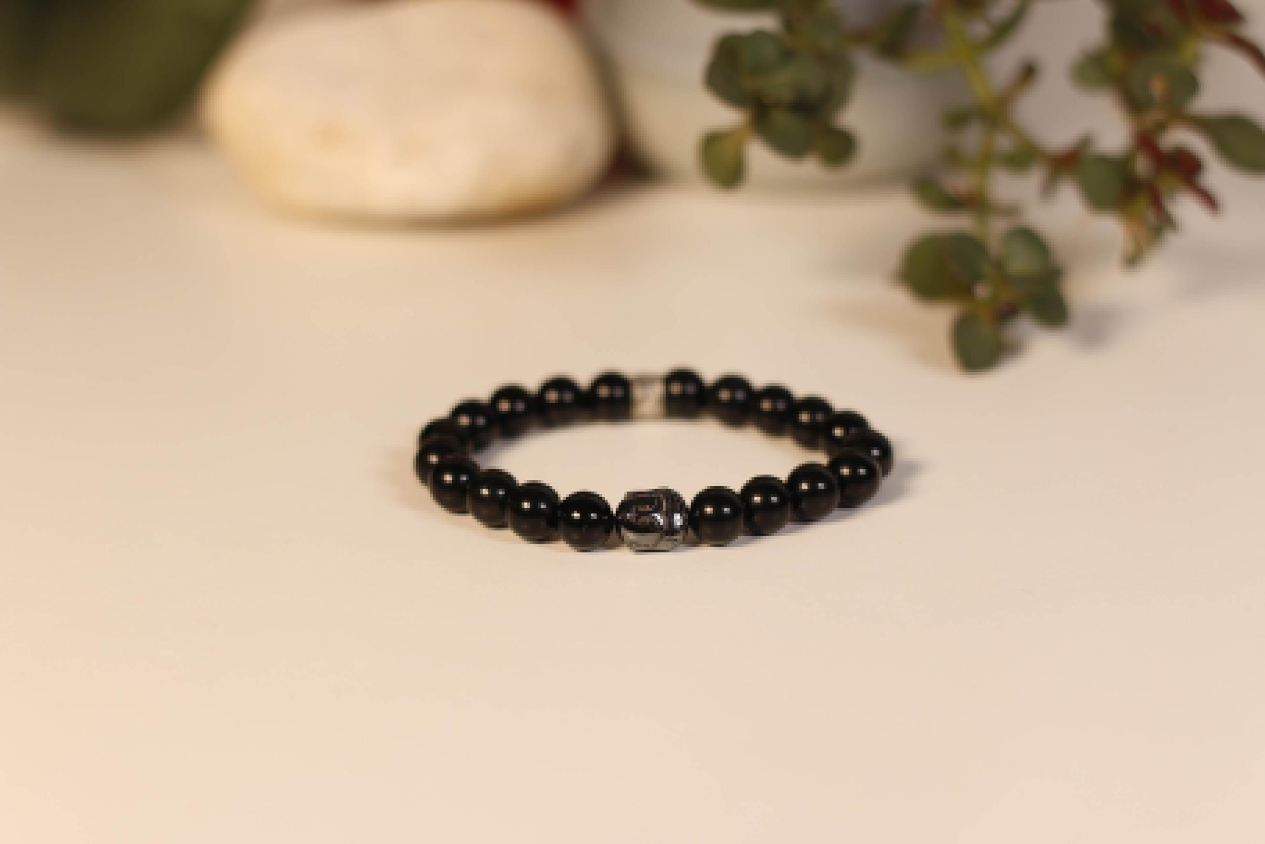 Bracelet Bouddha Obsidienne 1