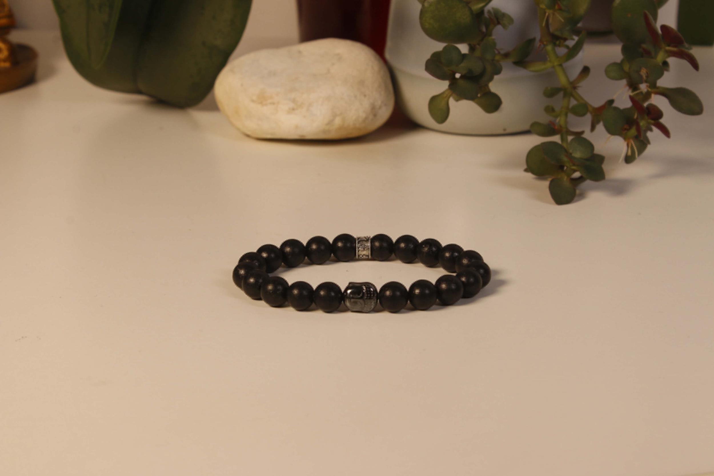Bracelet Bouddha Pierre de lave 1