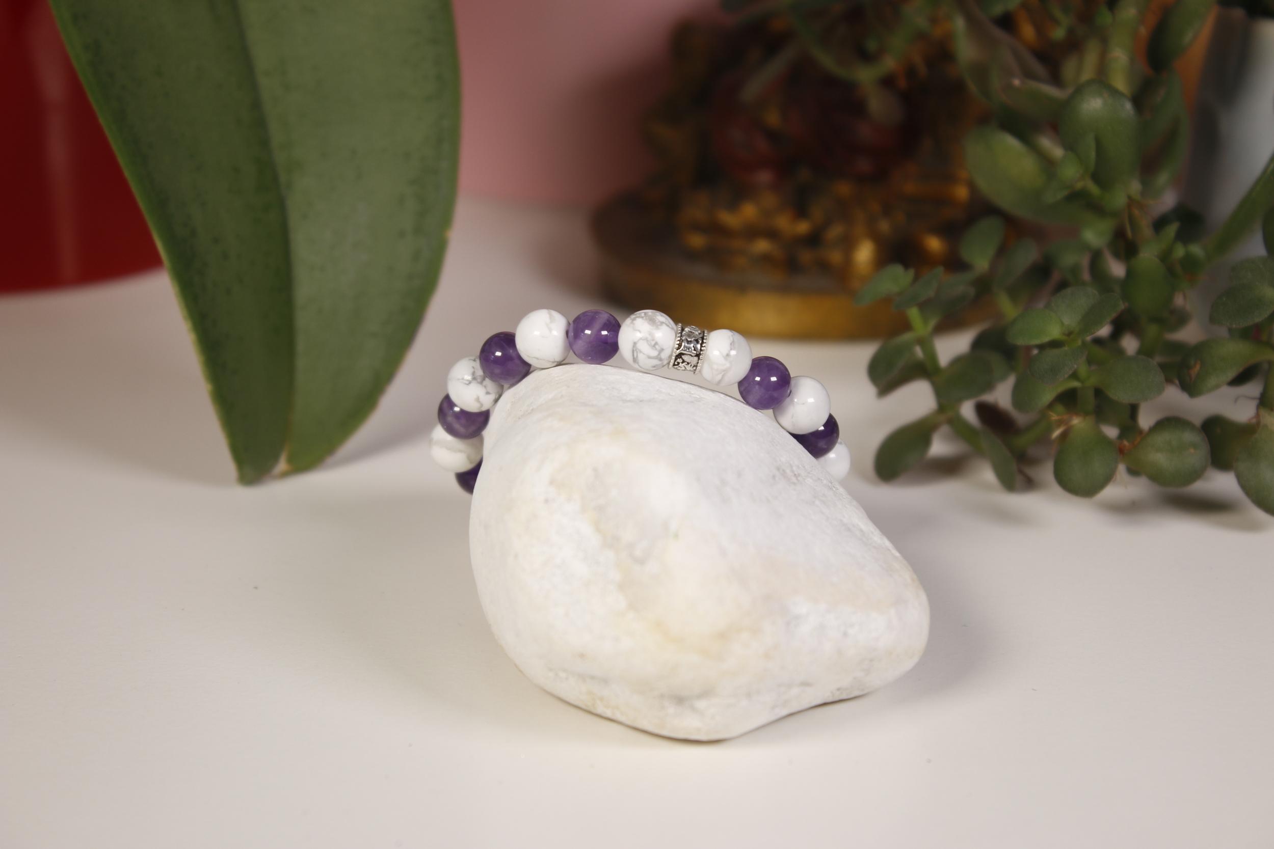 Bracelet Améthyste Howlite Karmantra 11