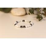 Bracelet Bouddha Howlite 3 Hématite 2
