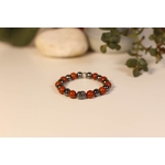 Bracelet Bouddha Jaspe Rouge 1 Hématite 1