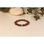 Bracelet Bouddha Jaspe Rouge 1 Hématite 2