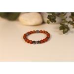 Bracelet Bouddha Jaspe Rouge 3 Hématite 2