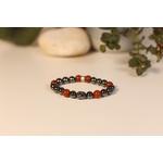 Bracelet Bouddha Hématite Jaspe Rouge 1