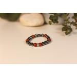 Bracelet Bouddha Hématite Jaspe Rouge 2