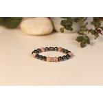 Bracelet Bouddha Hématite Rhodochrosite 2