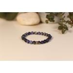 Bracelet Bouddha Sodalite 3 Hématite 2