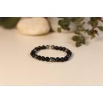 Bracelet Bouddha Obsidienne 3 Hématite 1