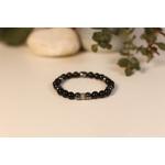 Bracelet Bouddha Obsidienne 3 Hématite 2