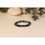 Bracelet Bouddha Hématite Obsidienne 1