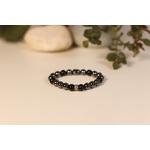 Bracelet Bouddha Hématite Obsidienne 2