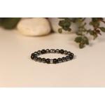 Bracelet Bouddha Hématite Pierre de lave 2