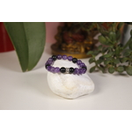 Bracelet Améthyste Obsidienne Karmantra
