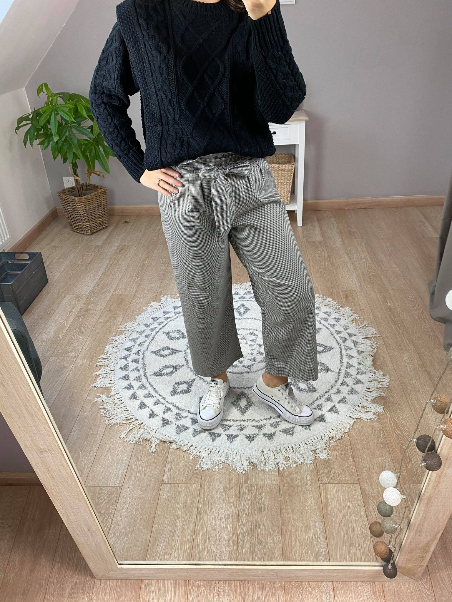 Pantalon Parfait Large à carreaux