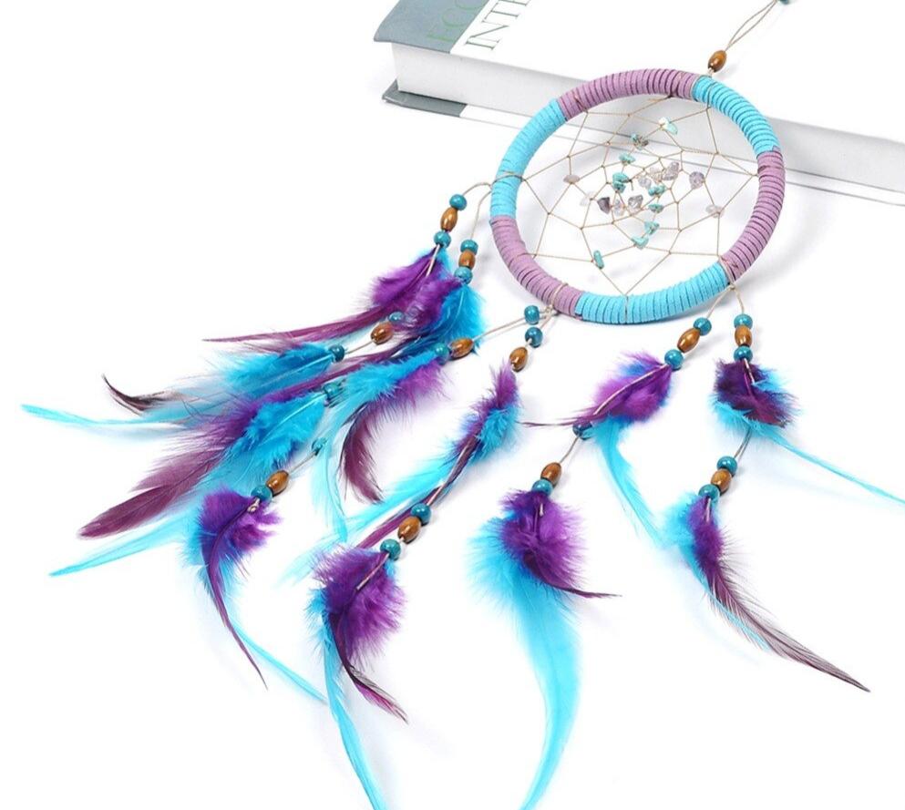 Attrape-rêves Turquoise et Violet
