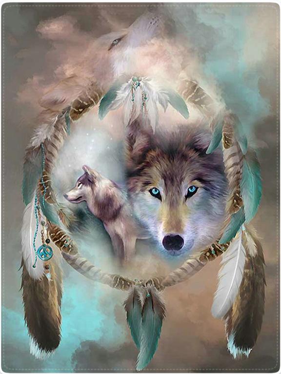 Plaid Attrape-Rêves Loup