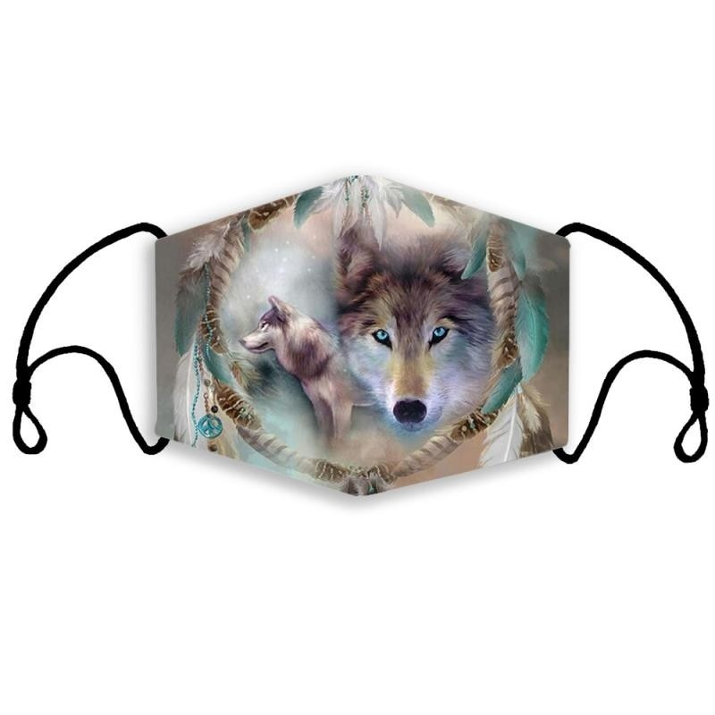 Masque Dreamcatcher Wolf