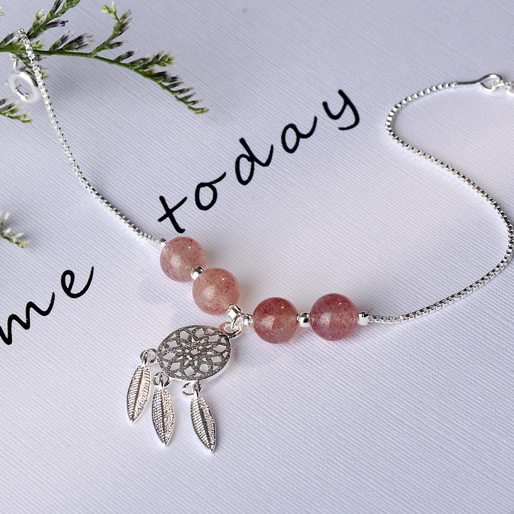 bracelet perle rose1