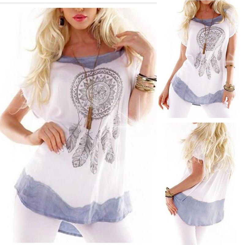 tee-shirt attrape-rêves manche courte en coton