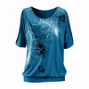 tee-shirt bleu foncé