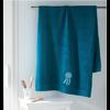 drap de bain bleu