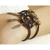 bracelet attrape-rêves en bois